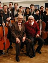 Dave with Alan Parisot and the Yale Cellos, March 2009