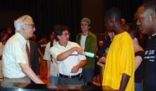 Dave with Emory University Students 2002