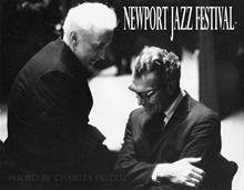 Dave with Fr. O Connor, Newport Jazz Festival
