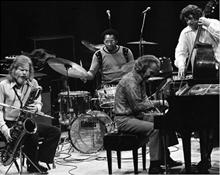 1970's. Dave with Gerry Mulligan, Alan Dawson and Jack Six.