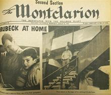 Montclarion  newspaper, Oakland, California, 1957. Dave with a young Chris Brubeck.
