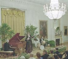 DBQ  state dinner for President Julio Maria Sanguinetti of Uruguay in East Room  1986