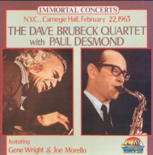The Dave Brubeck Quartet at Carnegie Hall  - CD cover -