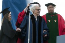 2010. Receiving Honorary Degree from George Washington University.
