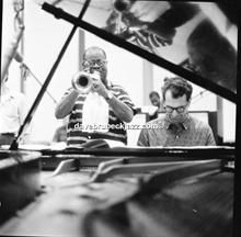 Dave and Louis Armstrong recording  'The Real Ambassadors', September 1961.