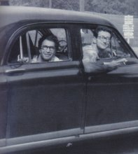 September 15 1952, outside Philadelphia (copyright - Time Signatures booklet). The car is a 1949 Kaiser Vagabond.