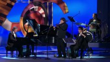 Darius, Chris, Matthew and Danny performing 'Blue Rondo a la Turk' at Kennedy Center Awards, Dec 6 2009.