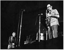 1970, Schaefer Music Festival, Central Park, NYC, Paul Desmond, Gerry Mulligan (Courtesy Jan Lombardi)