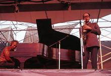 1971, Schaefer Music Festival, Central Park, NYC, Dave Brubeck, Paul Desmond (Courtesy Jan Lombardi)