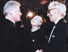 From 1994 'Dave Brubeck Newsletter', meeting President Clinton during National Endownment For The Arts ceremony.