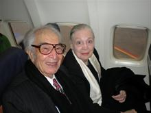 Flying to Kennedy Awards, December 2009