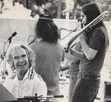 Dave with Chris and Perry Robinson in Central Park, New York, 1973.