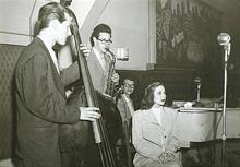 Frances Lynne, Norman Bates, Paul Desmond and Dave Brubeck, 1949