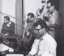 Joe Dodge, Bob Bates, Paul Desmond and Dave Brubeck (Frank Driggs Collection)
