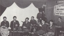 The Octet. Bill Smith, Paul Desmond, Dave Van riedt, Cal Tjader, Ron Crotty, Dick Collins, Bob Collins and Dave Brubeck