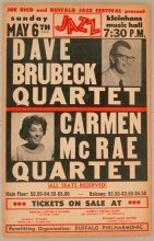1962, Buffalo, with Carmen McRae