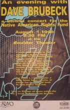 1990, benefit concert for the Native American Rights Fund