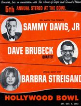 Hollywood Concert Bowl - 1963 with Sammy Davis, JR and Barbara Streisand