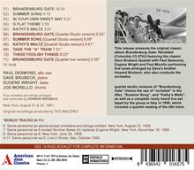 Brandenburg Gate Revisited - American Jazz Classics - CD release - back cover
