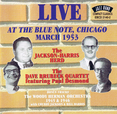 Live at the Blue Note, Chicago, March 1953 - CD cover