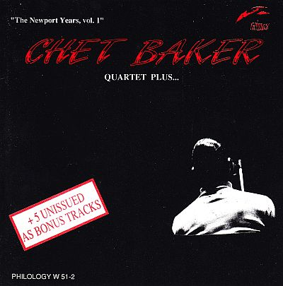 Chet Baker, Newport Years, Vol 1  - CD cover