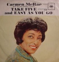 Columbia Records - Carmen McRae - Take Five & Easy As You Go