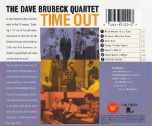 Columbia Legacy 5 CD Box release, 'For All Time'.  'Time Out' - back cover.